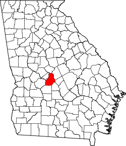 map of Georgia highlighting Houston County