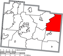 Location of Ross Township in Greene County