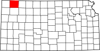 Map of Канзас highlighting Rawlins County