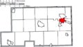 Map of Mahoning County Ohio Highlighting Struthers City.png