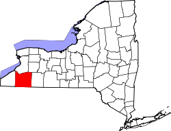 Map of New York highlighting Cattaraugus County.svg