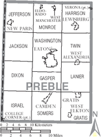 Municipalities and townships of Preble County.