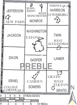 Map of Preble County Ohio With Municipal and Township Labels.PNG