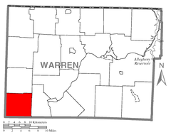 Map of Southwest Township, Warren County, Pennsylvania Highlighted.png