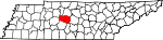 State map highlighting Williamson County