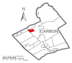 Location of Weatherly in Carbon County