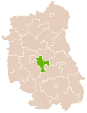 Świdnik County - Image: Mapa Pow Świdnicki Lubelski