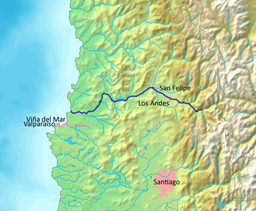 Map of the Aconcagua river