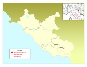 Fregellae - Mappa Riserva naturale Antiche Città di Fregellae e Fabrateria Nova e del Lago di San Giovanni Incarico