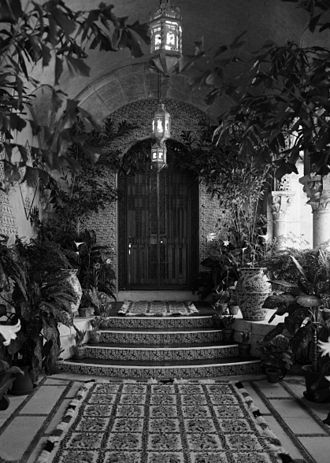 Marjorie Merriweather Post - Entrance to Mar-a-Lago owner's suite, April 1967