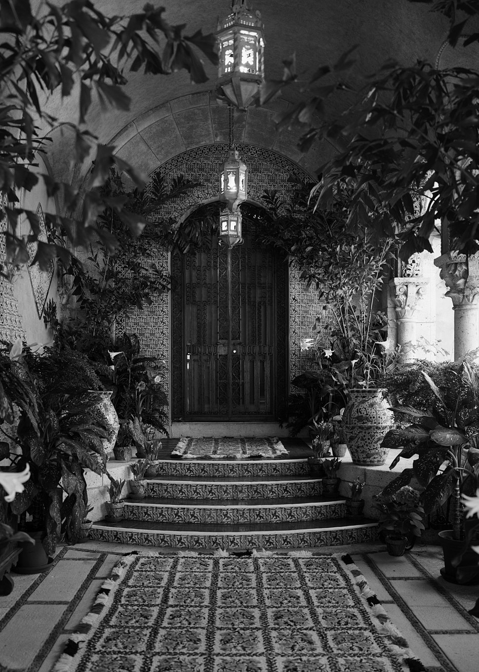 Entrance to Mar-a-Lago owner's suite, April 1967