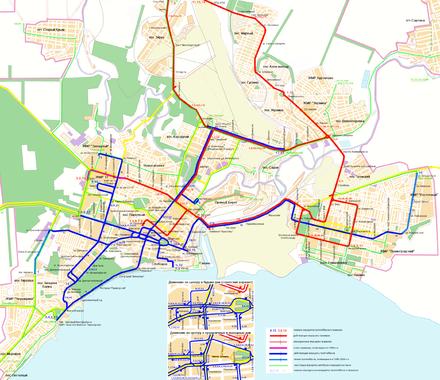 Мариуполь. Схема движения