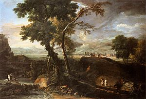 Marco Ricci - Landscape with River and Figures. c. 1720. Galleria dell'Accademia, Venice.