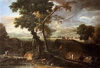 Marco Ricci - Landscape with River and Figures. c. 1720. Galleria dell'Accademia, Venice.