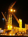 Marcor 2 unloading Fernando by night in Rotterdam pic5.JPG