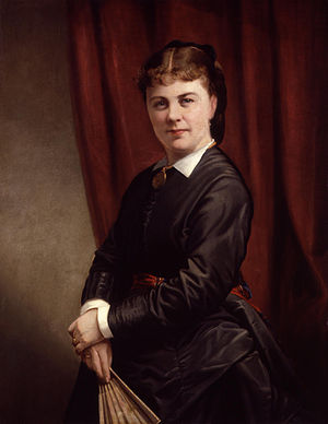 Effie Bancroft - Portrait of Bancroft painted by Thomas Barker, c. 1870s