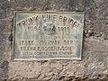 "Marker on the I-39 Rapid River Bridge. ""Trunk Line Bridge No. 64 1916 Built by State Highway Dept. Frank F Rogers Com.JPG"