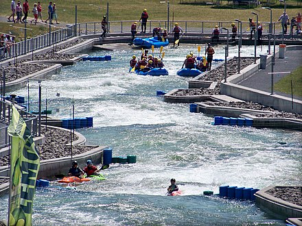 The artificial whitewater course Kanupark Markkleeberg at Markkleeberger See Markkleeberger See Wildwasseranlage2.jpg