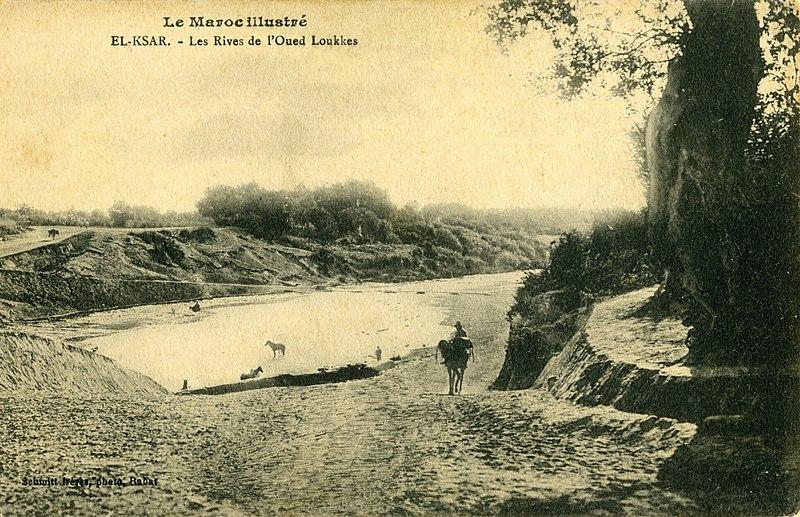 Fichier:Maroc Alcacer Quibir (El- Ksar), les rives de l'oued Loukkes.jpg