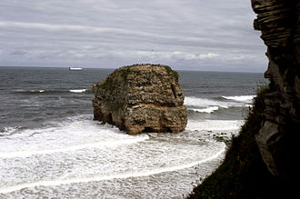 A183 road (England) - Marsden Rock