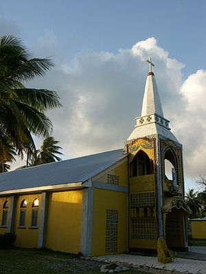 Religion in the Marshall Islands - Catholic church in Likiep Atoll