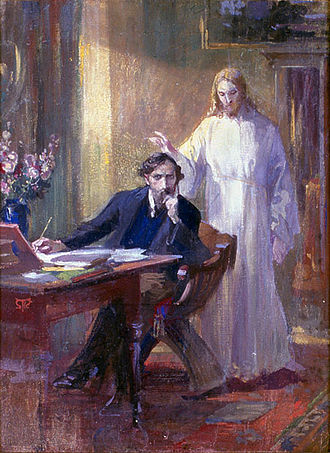 Esoteric Christianity - Selfportrait with Christ by Martin von Feuerstein
