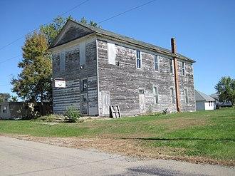 Martinsburg, Iowa - Abandoned Mason's lodge in Martinsburg