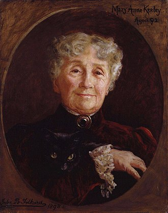 Mary Anne Keeley - Mary Anne Keeley by Julia Bracewell Folkard at age 92 in 1898