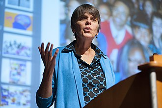 Tinker v. Des Moines Independent Community School District - Mary Beth Tinker speaks at Ohio University in 2014 during her Tinker Tour USA.
