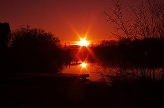Alcoa, Tennessee - Maryville-Alcoa Greenway sunset