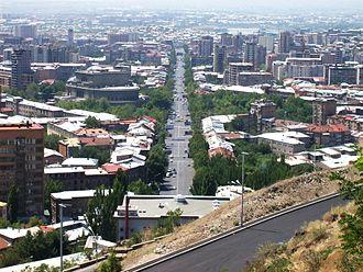 Mashtots Avenue - Mashtots Avenue in 2008, view from north to south
