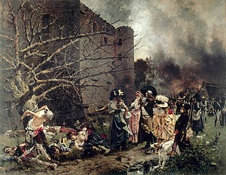 War in the Vendée - The massacre of 150 to 200 Vendean Republicans by Vendean Royalists in Machecoul was the starting event of the War in the Vendée.