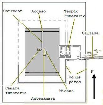 Mastabat al-Fir'aun - Groundplan of the tomb complex