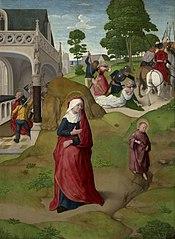 Elizabeth Fleeing with Her Son