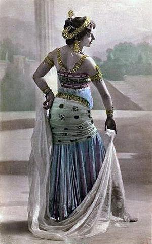 Postcard of Mata Hari in Paris