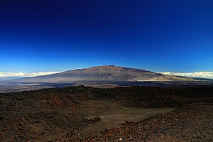 Mauna Kea - View of the mountain from Mauna Loa Observatory