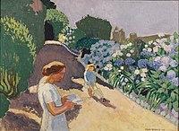 Maurice Denis 1920 Malon et les hortensias.jpg
