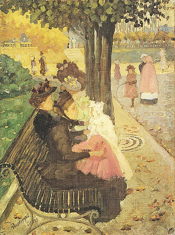 Maurice Prendergast (1858-1924) - The Tuileries Gardens, Paris (1895).jpg