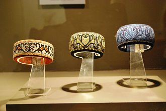 Mazahua people - Mazahua-style bracelets at the Museo de Arte Popular in Mexico City, by Isabel Quijano, Maria Dolores Garcia, Angelica Reyes and Matilde Reyes