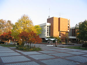 Alma College - McIntyre Mall with the Swanson Academic Center in the background
