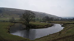 Meander on the River Wharfe between Kettlewell and Starbotton (12th February 2013).JPG