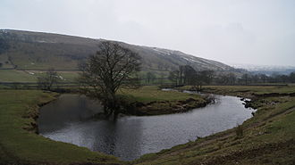 River Wharfe - The River Wharfe meandering between Starbotton and Kettlewell.