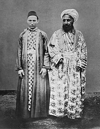 Arab slave trade - A Meccan merchant (right) and his Circassian slave, between 1886 and 1887