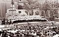 Med petjem Rdeče kantate v Križankah ob praznovanju dvajsete obletnice vstaje slovenskega naroda 1961.jpg