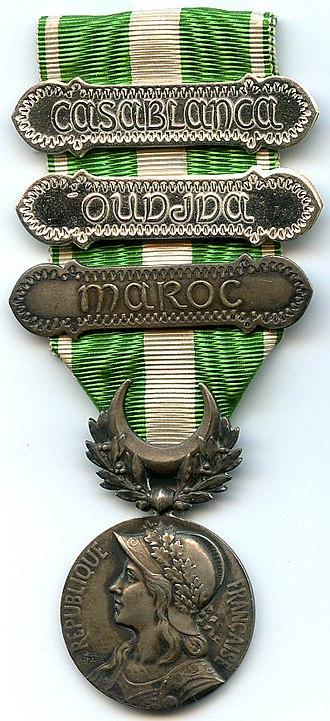 Morocco commemorative medal (1909) - Image: Medaille du maroc France
