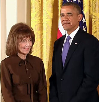 Elaine May - May receiving the Medal of Arts award from President Obama, July 13, 2013