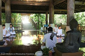 Vipassana movement - Insight Meditation Practice at Dhammadrops Foundation, Chiang Mai.