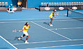 Melbourne Australian Open 2010 Venus and Serena Return.jpg