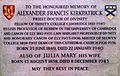 Memorial to Alexander Francis Kirkpatrick in Ely Cathedral.JPG