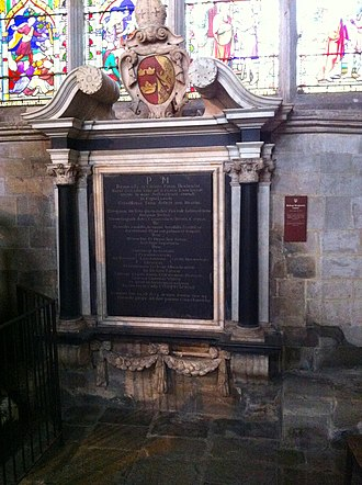 Benjamin Lany - Memorial to Bishop Benjamin Laney in Ely Cathedral